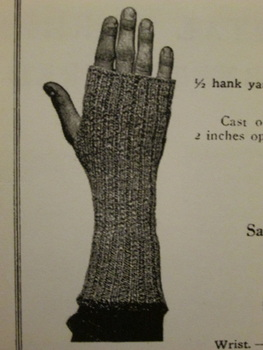 American Red Cross WWI Thumbless Mittens