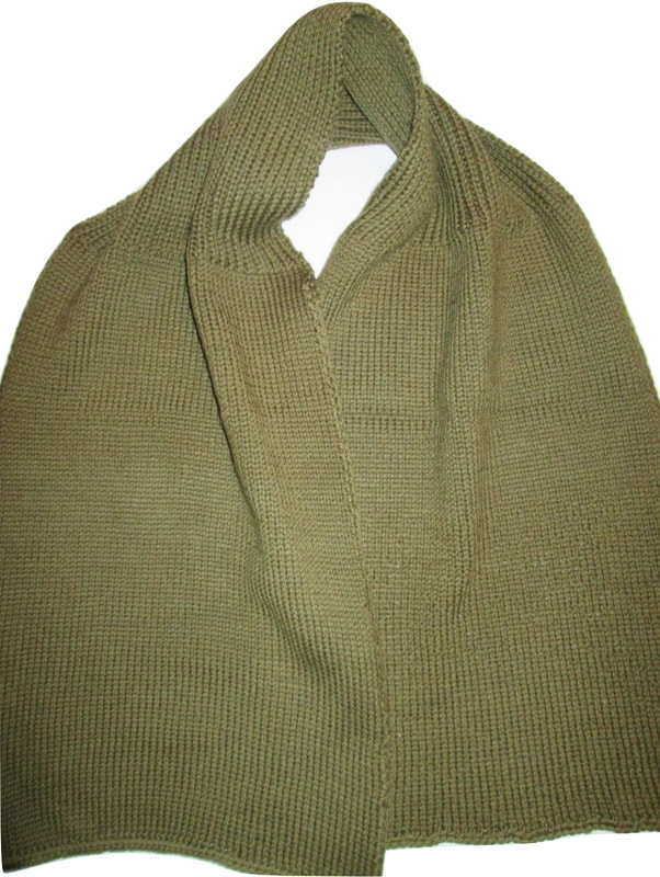 WWII 1941 Scarf Knitted