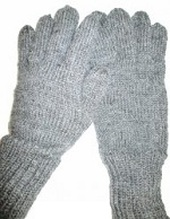 French WWI gloves, knitted