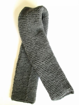 Knitted WWI French scarf