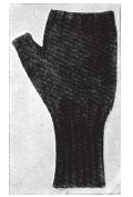 WWI Great War Half Mittens, Fingerless Mittens for gunners