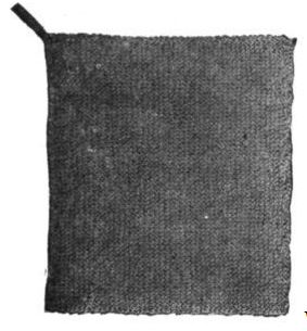WWI Great War knitted washcloth