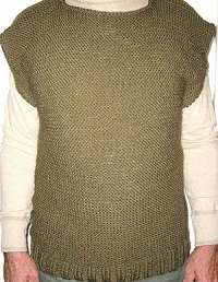 WWI reproduction handmade knitted vest
