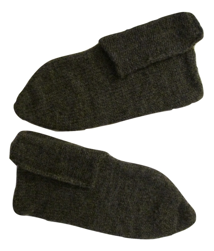 WWI Great War French Knitted Slippers