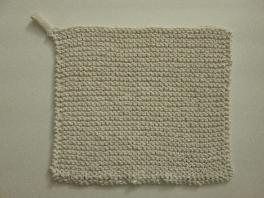 WWI Great War Cotton Washcloth, Knitted