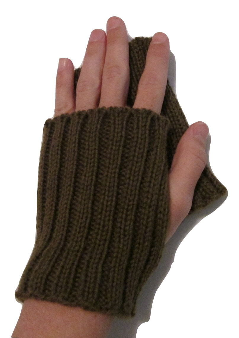WWI Great War Hand Knitted Fingerless Mitts